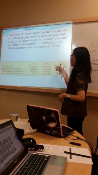 tes mengajar calon asisten lab akuntasi Binus University 2014