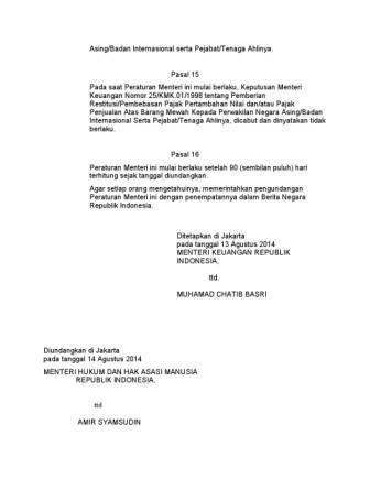Peraturan menteri keuangan nomor 91/pmk.05/2007