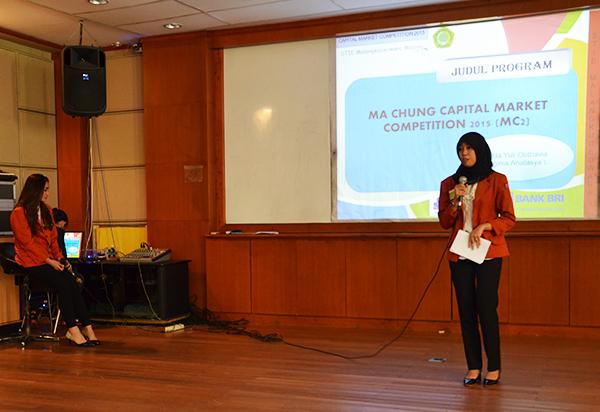 Opening Speech dari Ketua Program Studi Akuntansi Ma Chung