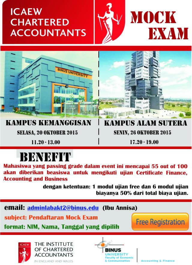 Poster ICAEW Mock Exam
