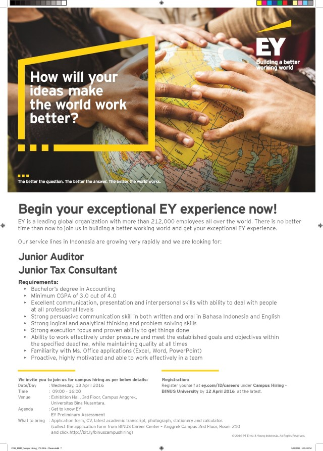 EY Campus Hiring_BINUS_13 April 2016