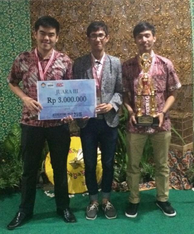 Jurusan Akuntansi BINUS Juara 3 Lomba Atmajaya