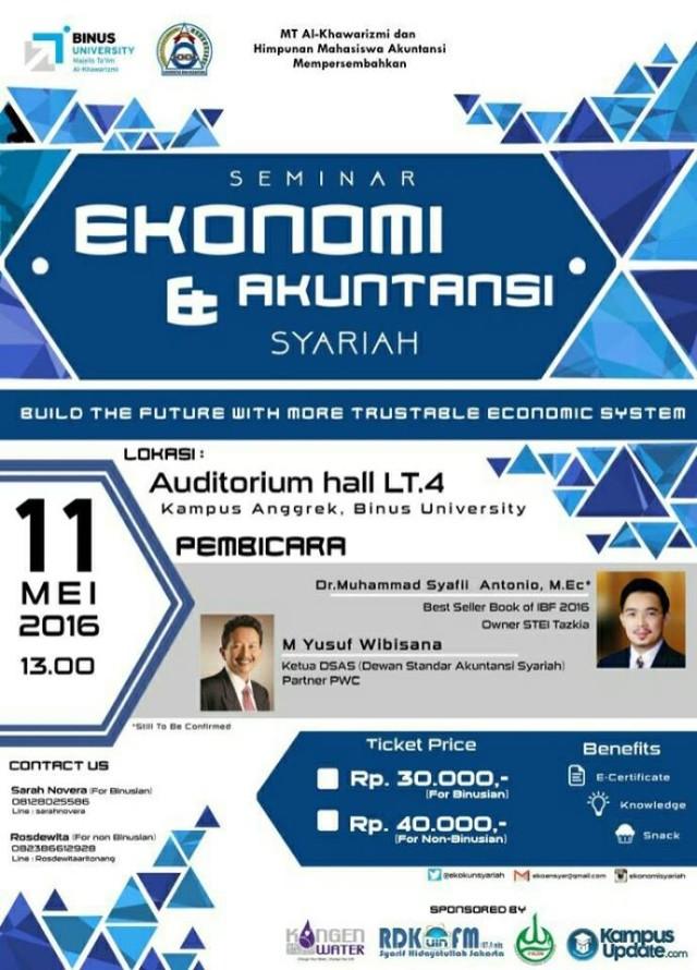 Seminar Ekonomi dan Akuntansi Syariah