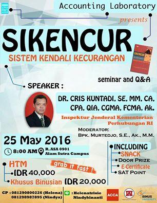 Seminar Si Kencur_Accounting Binus