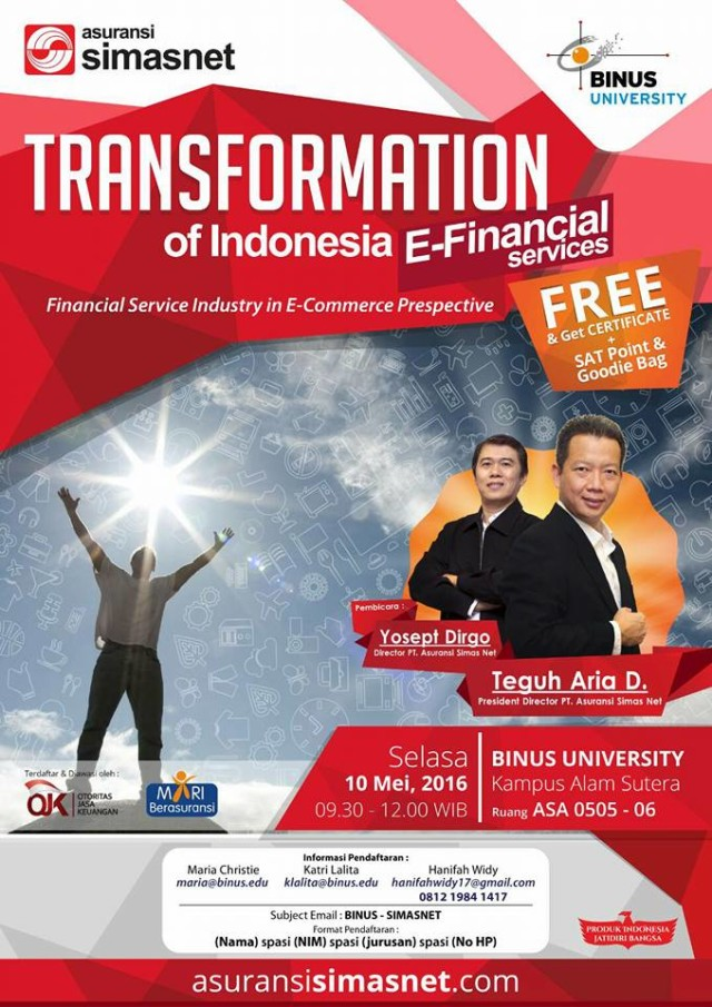 seminar Transformation of Indonesia E-Financial Services_10 Mei