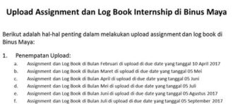 Panduan Upload Assignment dan Log Book Inernship di Binusmaya