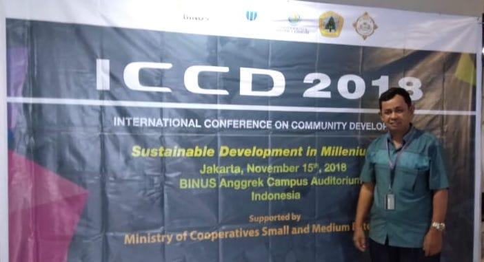 Pariang Siagian presentasi penelitian pada ICCD 2018