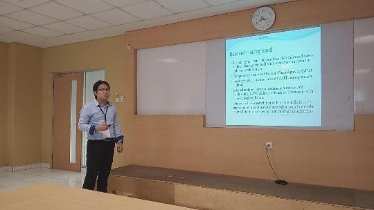 Bapak Bambang Leo Handoko Presentasi hasil Penelitian di ICIMTECH 2019